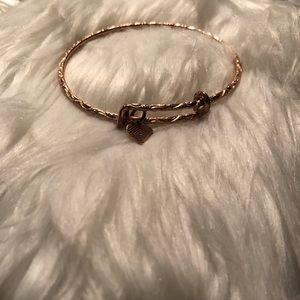 Alex & Ani rose gold bracelet